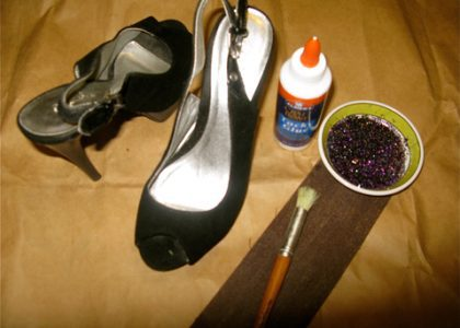 DIY Yourself a Pair of Sparkly New Heels!