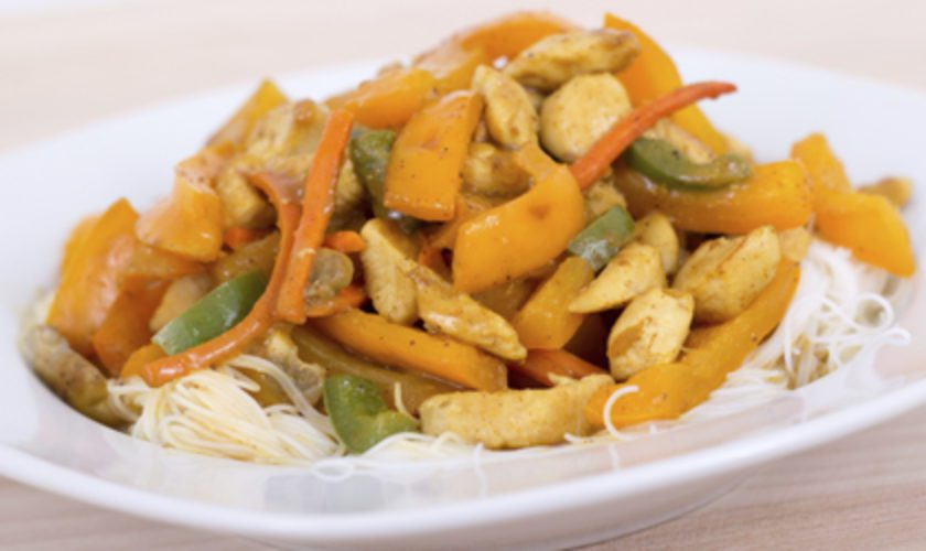 Dianne Brewer's Mango-Apricot Chicken Breasts and Spicy Peanut Slaw