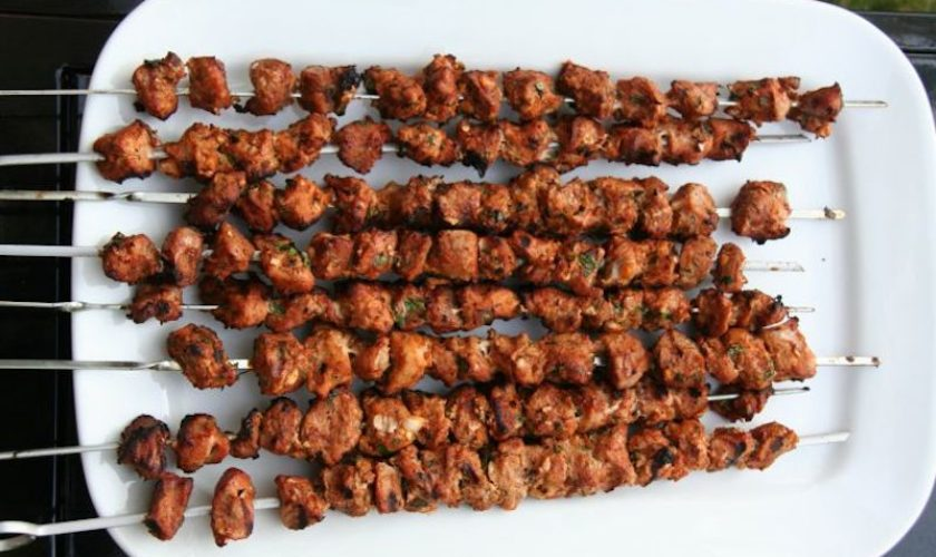 Barbecued Pork and Apple Kebabs
