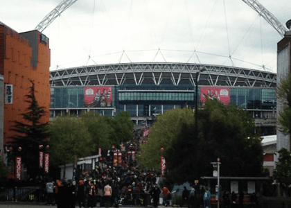 Hello from London: Nahki Wells and Bradford City at Wembley Stadium