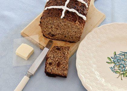 Hot Cross Bun Loaf for Easter Morning