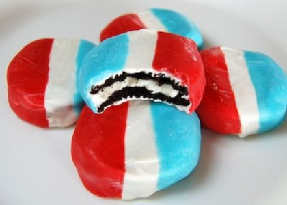 Red, White & Blue Oreo Cookies