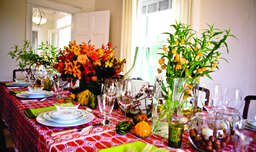 A Look Back at Thanksgiving in Camden Cottage