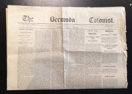 A Century of Bermuda News: March 1908