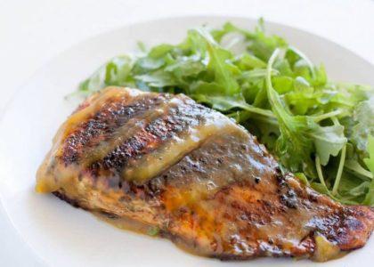 Bermuda Rockfish with Bermuda Bananas & Gosling's Black Seal Sauce