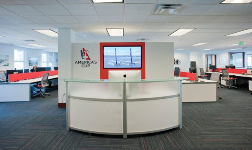 America's Cup Sets Up Shop