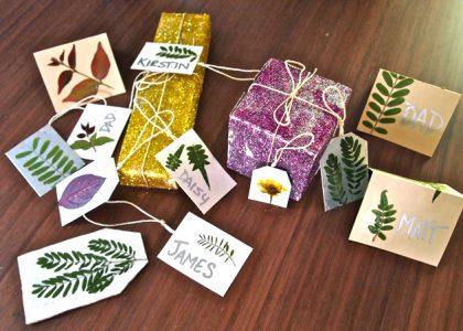 DIY Bermuda Foliage Place Cards
