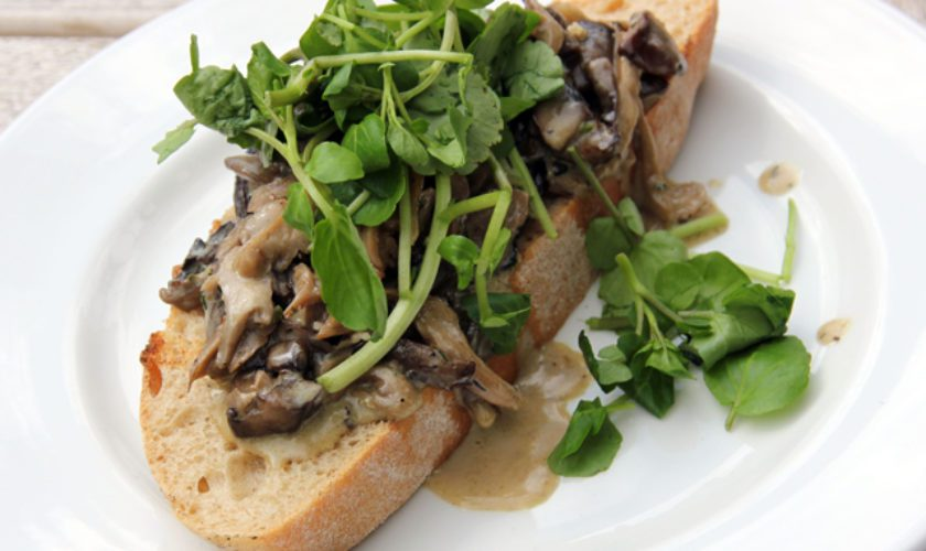 Shiitake Mushrooms on Toast
