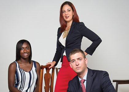 Zadia Augustus, Kelly Cabral and Chris Finsness