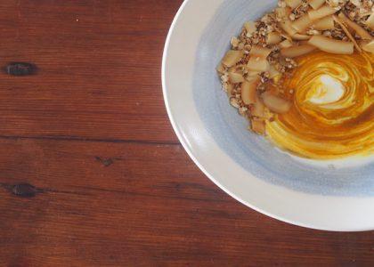 Grain Free Granola & A Golden Yogurt Bowl