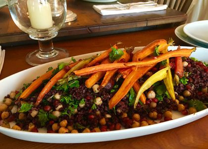 Black Rice and Roasted Carrot Salad with Orange Vinaigrette