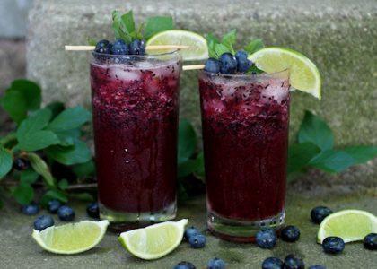 Blueberry Mojito Mocktail