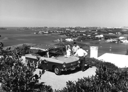 Mopeds and Automobiles in Old Bermuda