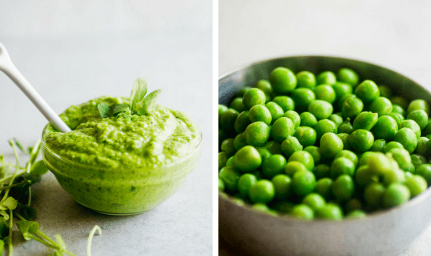 5-Minute Bermy Fresh Pea Pesto