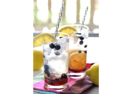 Blueberry Lemon Smash Rum Cocktail