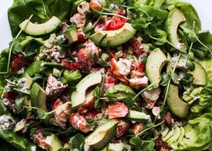 Lobster Salad with Ginger Confit and Baby Greens