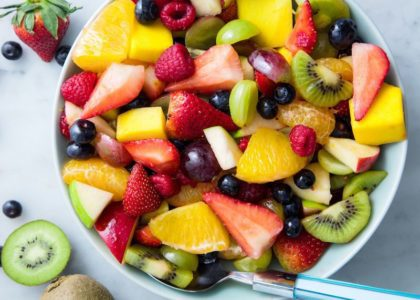 Fruit Salad with Paw Paw Mint Dressing