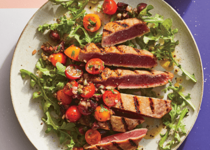 Chargrilled Tuna with Gosling's Black Seal Rum Butter