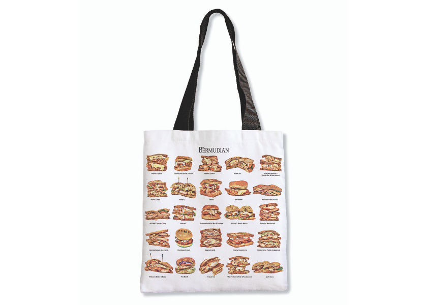Introducing The Bermudian's Original Fish Sandwich Tote Bag