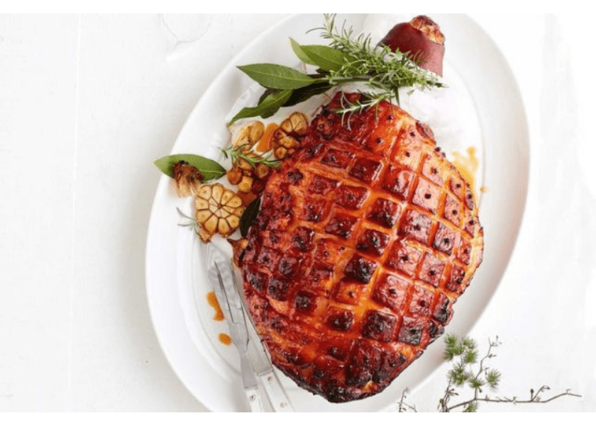 Gosling's Black Seal Rum and Peach Glazed Ham