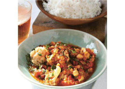 Chickpea, Cauliflower and Coconut Curry
