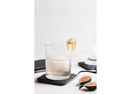 Fig, Vanilla Bean and Gin Cocktail