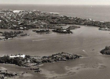Vintage Aerial View of Bermuda
