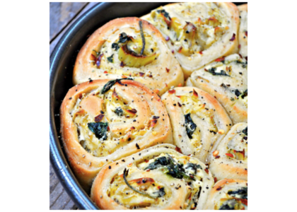 Savory Spinach and Artichoke Rolls
