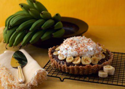 Bermuda Bananas: Unbaked Banana Chocolate Cream Pie