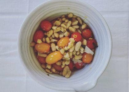 Sautéed Heirloom Tomato, White Bean and Sage Salad