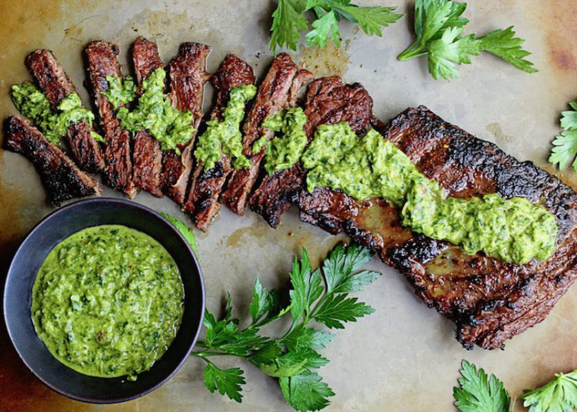 Skirt Steak Marinade with Chimichurri