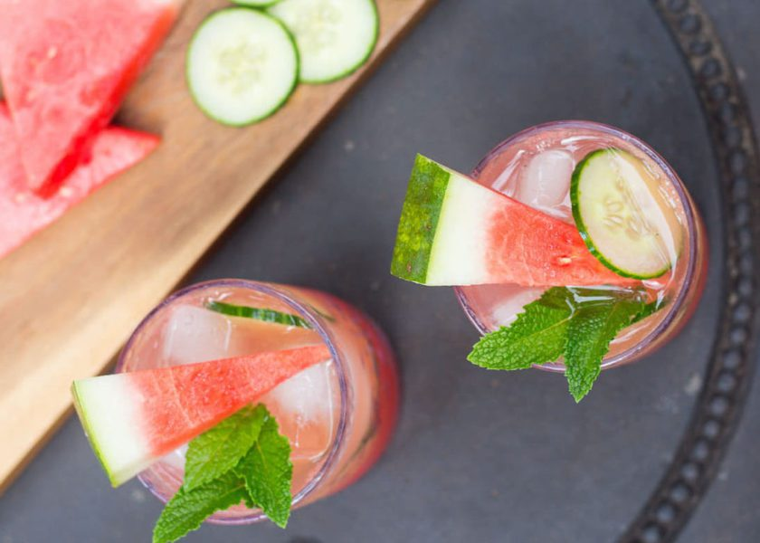 Watermelon and Cucumber Cocktail