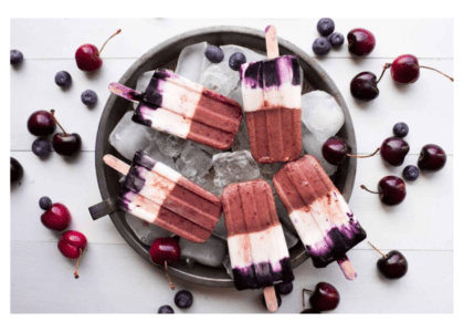 Homemade Cherry Ice Pops