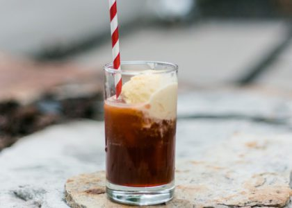 Ginger Beer Float with Rum