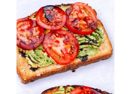 Balsamic Tomato and Avocado Toast