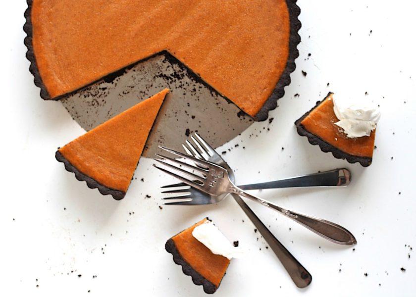 Dark Chocolate Pumpkin Tart - The Bermudian Magazine