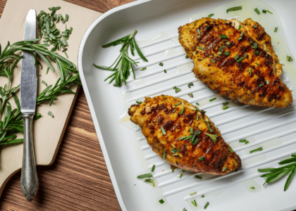 Olive and Rosemary Crusted Chicken