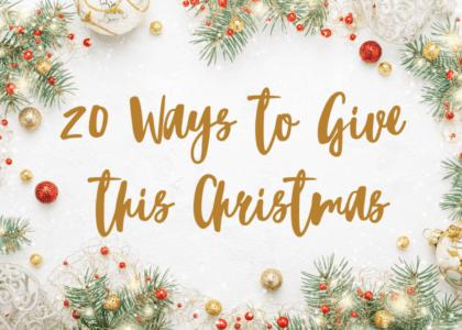 20 Creative Ways to Give