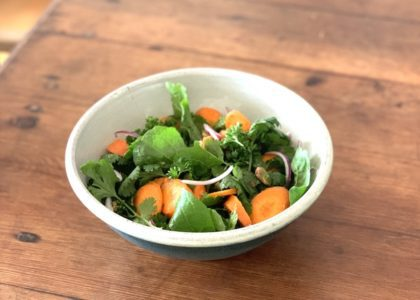 Moroccan Carrot and Arugula Lunch Salad