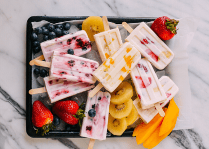 Easy Fruit and Yogurt Popsicles