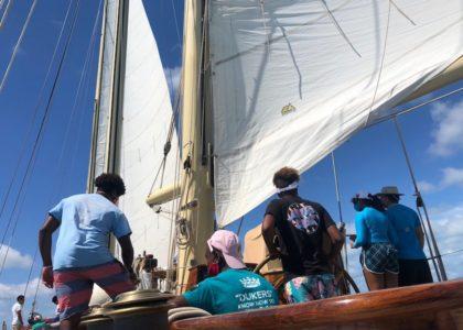 The Duke of Edinburgh's Award Participants Spend Time on Spirit of Bermuda