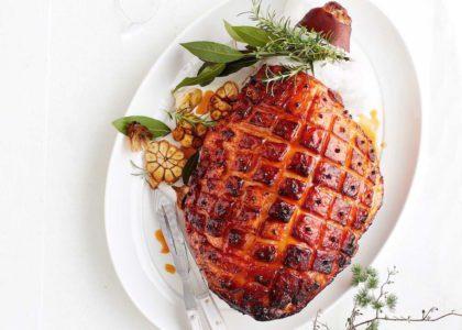 Gosling's Black Seal Rum and Peach Glazed Ham