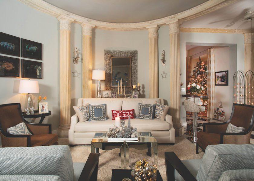 All that Glitters: Kim Hughes' Art Deco Home at Christmas